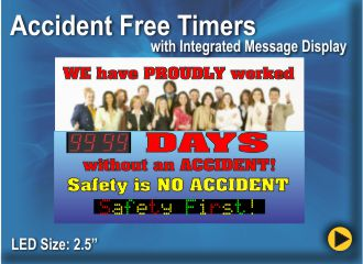 BRG Accident Free Timer, Count Up Clock