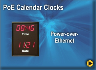 BRG's Power Over Etheenet Calendar Clocks