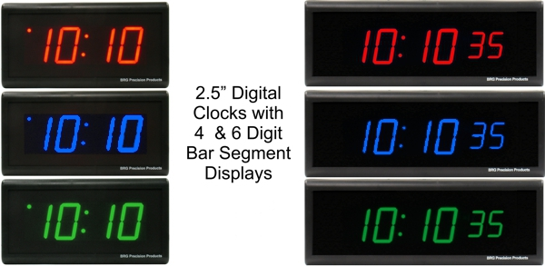 BRG's 2.5 inch Precision Digital Clocks