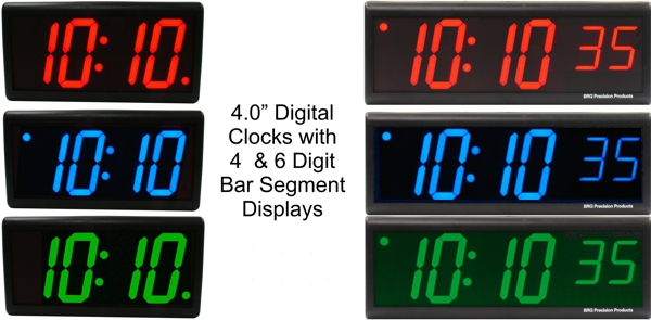 "BRG's 4.0"" Precision Digital Clocks"