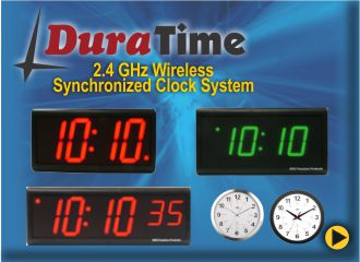 BRG DuraTime 2.4 GHz Wireless Synchronized Clock System