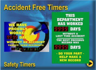 BRG Accident Free Safety Reminder Timers