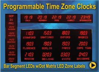 BRG Programmable Time Zone Clocks