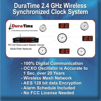 BRG Precision Products DuraTime 2.4 GHz Wireless Synchronized Clock System