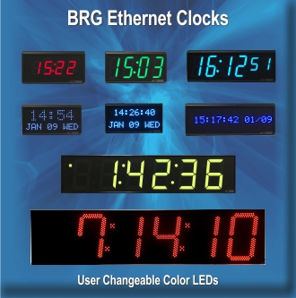 BRG Ethernet Digital Clocks