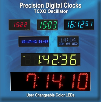 BRG Precision Digital Clocks