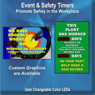 BRG Safety Timers allow you to track your safety records while promoting safety in the work place.
