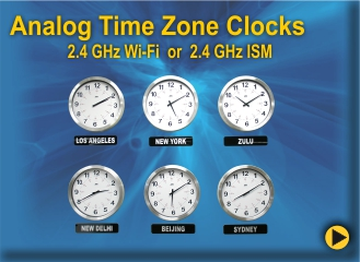 BRG's Analog Time Zone clocks