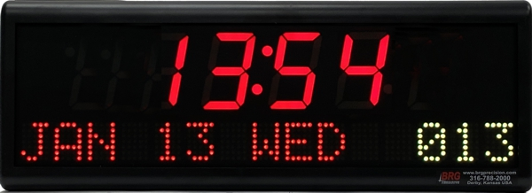 BRG Model 661A is shown here with 2 zones and 1.8 inch LEDs. Digital Time Zone Display, UTC Clock, Multi Location Clock, Zulu Clock, Multi-location Clock, World Clock, Time Zone Clock