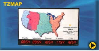 BRG's Time Zone Clock with Map