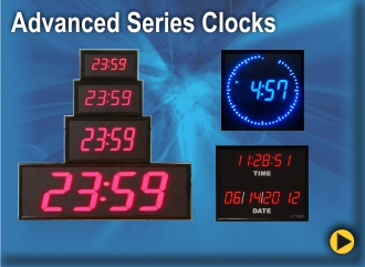 BRG Advanced Digital Clocks include Calendar Clocks, Sidereal Clocks and Circleline Clocks