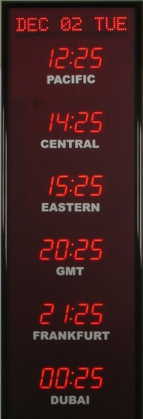 BRG Time Zone Clock  368