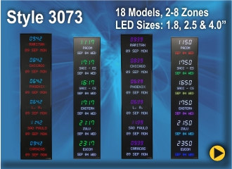 BRG Programmable Time Zone Clock Style 3073.
