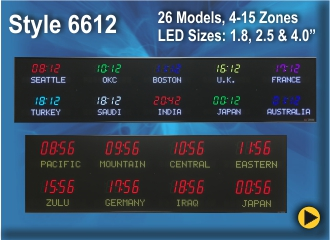 BRG Programmable Time Zone Clock, World Clock, Zulu Clock, Style 6612